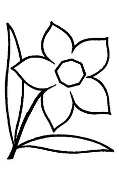 tulip template printable coloring pages for craft