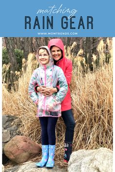 The best rain gear and Spring styles for women and kids. #raingear #springfashion #sp