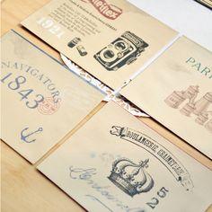 Set Sobres y Cartas Vintage