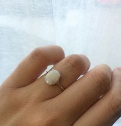This ring is so simple and timeless yet it screams gorge. I carefully select each Australian opal for its own uniqueness, no two are alike.
