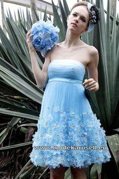 Hell Blaues Abendkleid Online Kurz