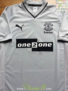 d34511b96 Relive Everton s 2001 2002 season with this vintage Puma away football shirt.  Puma Shirts