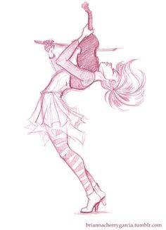 I watched several of Lindsey Stirling's music videos and got inspired to sketch. Col-erase pencil tips watches Cherry Garcia Cool Art Drawings, Art Drawings Sketches, Cartoon Drawings, Pencil Drawings, Cartoon Art Styles, Art Reference Poses, Character Drawing, Character Design Inspiration, Love Art