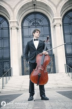 Classical musician head shot pose ideas - Cello at the Detroit Institute of Arts - Detroit Musician Headshots Photographer
