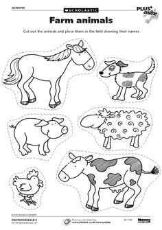 Animal worksheets, farm animals preschool, farm animal crafts, farm animals f Farm Animals Preschool, Animal Activities For Kids, Farm Animal Crafts, Farm Activities, Preschool Farm Crafts, Farm Animals For Kids, Preschool Kindergarten, Farm Animals Pictures, Printable Animal Pictures