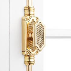 Pair of Trafalgar Polished Brass Carpet Traditional Design Stair Clips