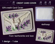 Lavender  Card holder  Credit card cover No.380  video