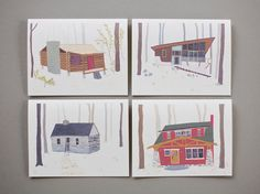Cabin Cards (Set of 8)