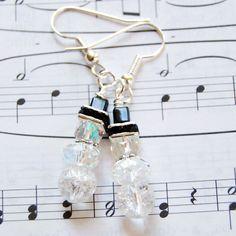 Snowmen Christmas Holiday Earrings by reneesumner on Etsy, $16.00