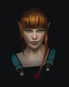 f High Elf Druid Light Armor portrait female Farmland Night underdark lg Fantasy Portraits, Character Portraits, Character Art, Character Design, Character Ideas, Character Concept, Female Character Inspiration, Fantasy Inspiration, Elf Characters