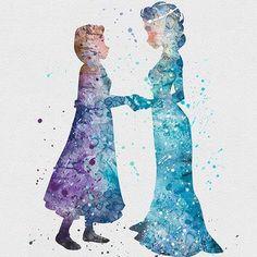 Image via We Heart It https://weheartit.com/entry/161243448 #anna #disney #frozen #elsa