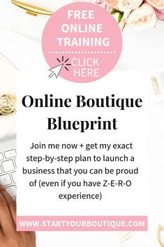 Starting An Online Boutique, Business Inspiration, Business Ideas, Online Fashion Boutique, Boutique Shop, Free Training, Work From Home Moms, Make More Money, Starting A Business