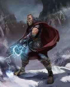Thunder God - Created by Tancred Dyke-Wells Marvel Comics Art, Marvel Heroes, Marvel Characters, Fantasy Characters, Fantasy Heroes, Asgard Marvel, Marvel Wolverine, Vikings, Loki