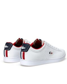 Tommy Hilfiger Sneakers Aus Leder - white   midnight   tango red ... f38c1111482