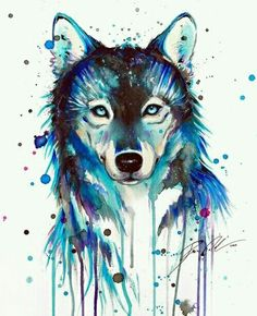 This is a nice watercolor wolf!might be getting this as my wolf tattoo since wolves are my favorite Wolf Tattoos, Wolf Tattoo Back, Small Wolf Tattoo, Wolf Tattoo Sleeve, Animal Tattoos, Fish Tattoos, Tatoos, Turtle Tattoos, Celtic Tattoos