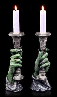 Vampire Candle Holder - Satanic Art, Black Feathers, Leather Journal, Tea Light Holder, Wall Plaques, Halloween Decorations, Halloween Party, Pillar Candles, Candlesticks