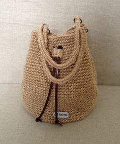 Julie Crochet Jute bag by officinafw on Etsy, £55.00