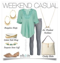 """Weekend casual doesn't have to be sweats and and a tshirt. Be comfy and look great!"" by cathy-bartlett on Polyvore featuring Stella & Dot, George J. Love and Other"