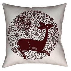 Serenity zen peace and tranquility - medieval 14th century Spanish Hispano-Moresque printed decorative pillow with a hind and arabesque pattern from Valencia. #beautiful #elegant #homedecor #decor #pillow #zen #livingroom #livingroomdecor #livingroomideas #oldworld #art #artsy #thearabesque #arabesque #smallbusiness #boston #cambridgema #deer #fawn #nature #animalprint #medieval #history #historical #historythroughcraft #etsy