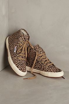 Superga Leopard High Tops anthropologie.com #anthrofave