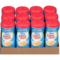 Coffee-mate Coffee Creamer, French Vanilla Canister, 15-Ounce Containers (Pack of 12) ** More info could be found at the image url.