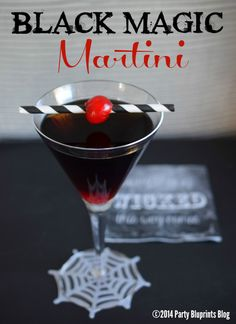 Black Magic Martini Halloween Party Cocktail!