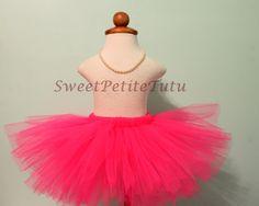 Hot Pink Tutu, Preemie, Newborn to Adult, by SweetPetiteTutu
