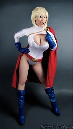 Power Girl, cosplayed by Yaya Han, photographed by Brian Boling