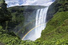 Islande arc-en cascade de roche g