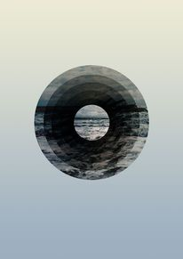 Creative Graphic, Sea, Astral, Ocean, and Sky image ideas & inspiration on Designspiration Graphic Design Illustration, Graphic Art, Illustration Art, Design Graphique, Art Graphique, Graphisches Design, Circle Graphic Design, Kairo, Grafik Design