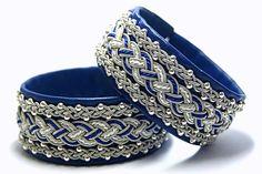 Sami Lapland Swedish Viking braided armband Wide by ScandicraftRU Silver Beads, Silver Bracelets, Cuff Bracelets, Leather Bracelets, Bangles, Vintage Accessories, Jewelry Accessories, Fashion Accessories, Swedish Vikings