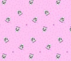 Poodles On Pink fabric by KiniArt on Spoonflower - custom fabric. © KiniArt - Kim Niles. All Rights Reserved