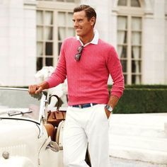 Why not 👌 Although I try to keep my wardrobe in shades of Blue, every now and then you need a pop of colour. A bold… Preppy Men, Preppy Style, Preppy Fashion, Mens Fashion, Fashion Outfits, Men's Style, Ralph Lauren Style, Color Pop, Colour