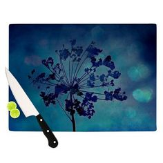 "KESS InHouse Grapesiscle Cutting Board Size: 11.5"" H x 15.75"" W"