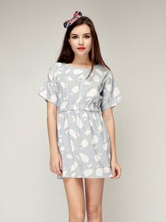 Dolphin Printed Dress // Storets.com // #STORETS #fashion #trend