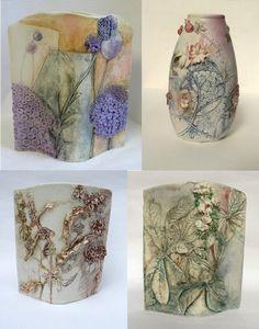 Elaine Hind Hand Built Pottery, Slab Pottery, Ceramic Pottery, Pottery Art, Ceramic Decor, Ceramic Art, Pottery Designs, Pottery Ideas, Jugendstil Design