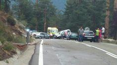 Accidente subida Navacerrada. Carretera CORTADA.  Muchas veces, demasiadas,  nos toca dar malas noticias. Lo pasamos mal el equipo.