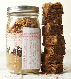 Christmas Food Gifts!  Just make sure you add the receipe to the jar :)