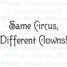 Whipper Snapper Designs Stamp Same Circus