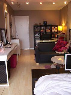 ダイニングテーブル~ソファ~ベッドで空間を仕切る/Space dividing idea for small apartment | Decoração para apartamento pequeno