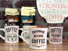 If you don't feel chatty before your first cup, let these mugs do the talking for you.