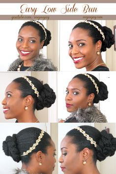 Low Side Bun | Natural Hair| Great Valentines Day Hairstyle