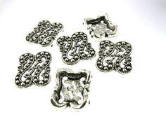 12 pcs 14x18mm Antique Oxidized Silver 2 by FancyGemsandFindings, $3.95 Oxidized Silver, Antiques, Antiquities, Antique