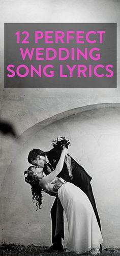 12 perfect wedding song lyrics
