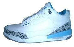 Big Kids Jordan Shoes Kids Air Jordan 3 White Blue Grey [Kids Air Jordan 3 - How perfec the Kids Air Jordan 3 White Blue Grey shoes are showed here! The shoes are characterized with creative eyelet design, classic Jumpman logos on the tongue and the ba Jordan Shoes For Kids, Air Jordan 3, Cheap Jordans, Kids Jordans, Jumpman Logo, Grey Shoes, Cheap Shoes, Kid Shoes, Big Kids