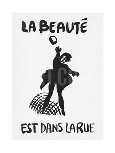 Beauty Is in the Street', Poster from the Student Revolt in Paris, May 1968 Giclee Print at Art.com