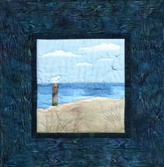 Solitude at Oval Beach an original design by by northernskyquilts, $135.00