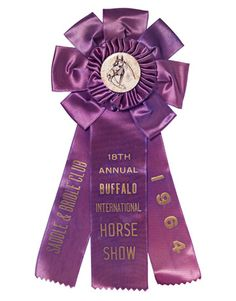 Vintage Horse Room Décor:   We're hot to trot for these new and vintage horse-themed home decorating accessories. Ribbon:   Valued at $20, this pretty streamer from the 1964 Buffalo International Horse Show in New York stands on solid middle ground — it's less expensive than awards from higher profile events, but pricier than ribbons without center rosettes.   Photo Credit: J. Muckle/Studio D