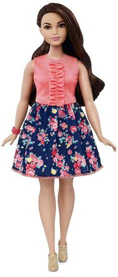 Barbie Fashionista Curvy Doll Spring Into Style
