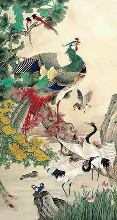 Page 2 Buy Chinese phoenix paintings & scrolls from China. Save compared to your local store by good phoenix painting artists. Japanese Painting, Chinese Painting, Chinese Art, Phoenix Painting, Phoenix Art, Phoenix Chinese, Art Chinois, Japanese Drawings, Art Asiatique
